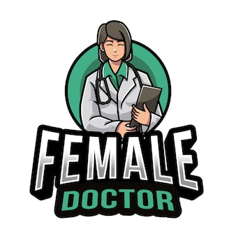 Female doctor logo template