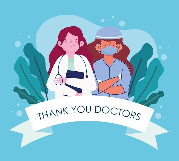 Female doctor and nurse