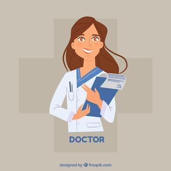 女性の医者クリップボード