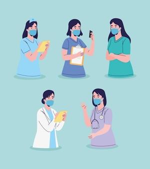 Female doctors staff