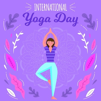 Female doing sport international day of yoga