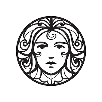 Female face icon