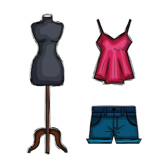 Female fashion accesories icons