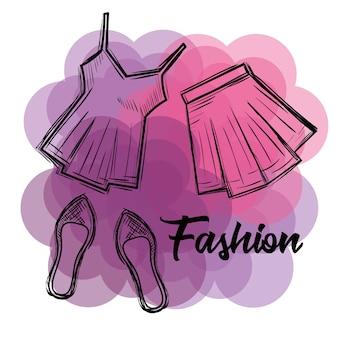 Female fashion clothes icon