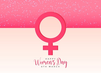 Female gender symbol on beautiful pink background