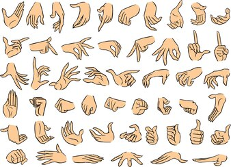 Female Hand Poses