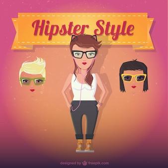 女性のヒップスタースタイル