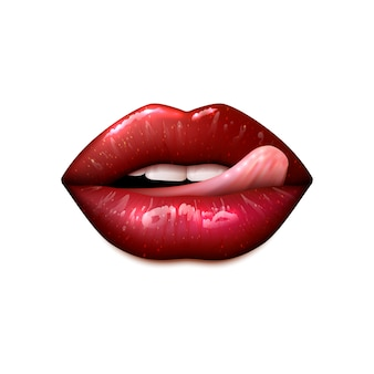 Female lips make up