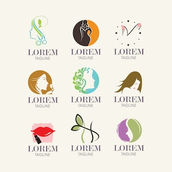 Female logo templates collection
