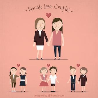 Female love couples