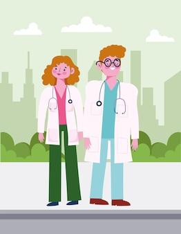 여성 남성 의사