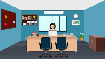 Female Manager in office