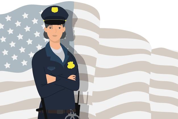 Женский полицейский агент