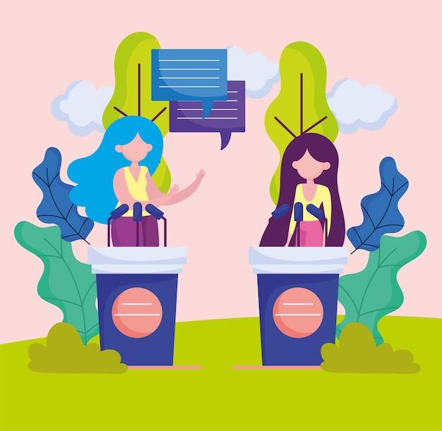 Female political debate