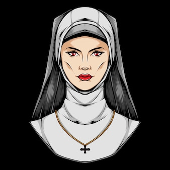 Female priest logo illustration