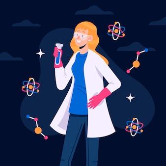 Женский ученый иллюстрации