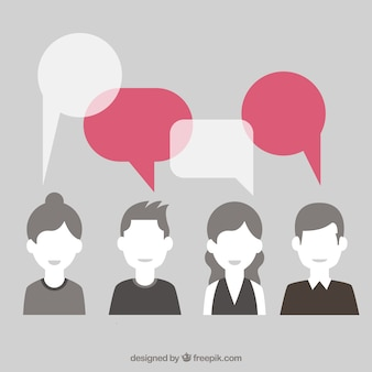 Female social chat bubbles vector