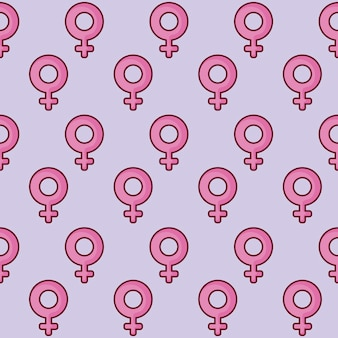 Female symbol pattern