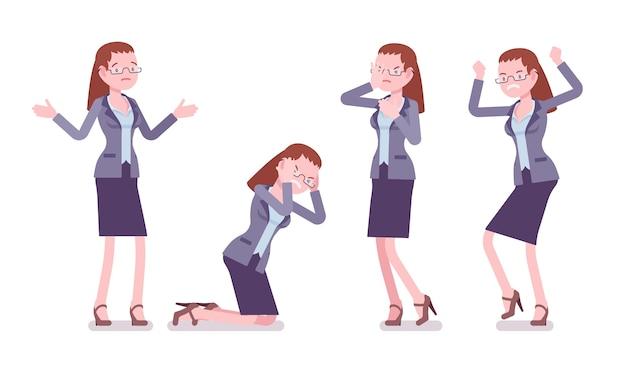 女教師の否定的な感情