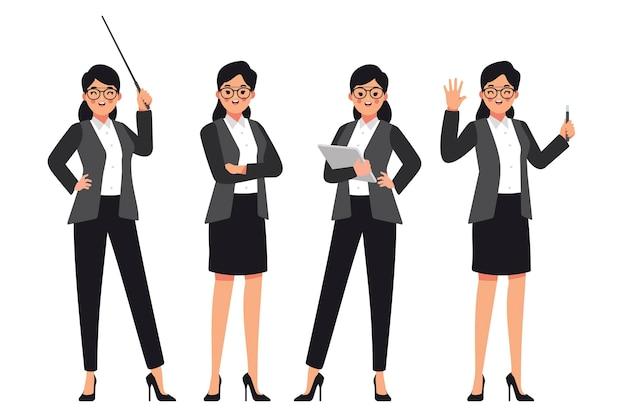 生徒を指導する準備ができている女性教師