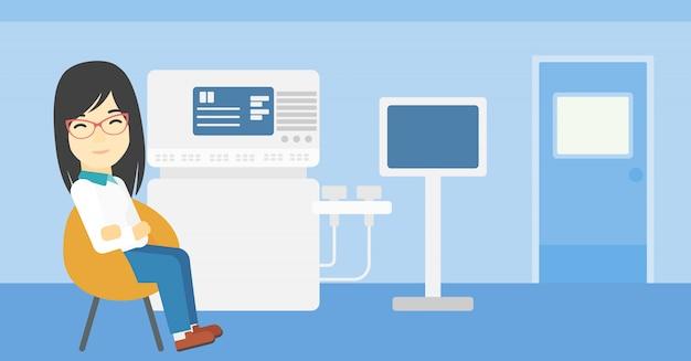 Female ultrasound doctor