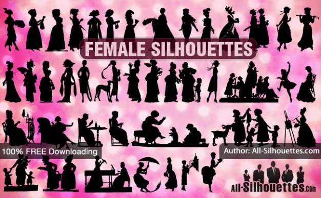 Female vector silhouettes | all silhouettes