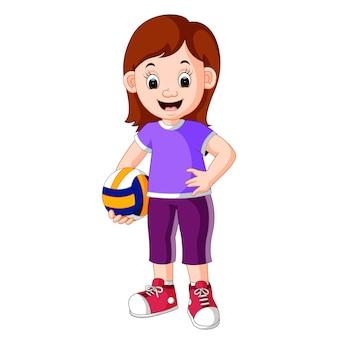 Женский волейболист