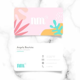 Femenine business card template