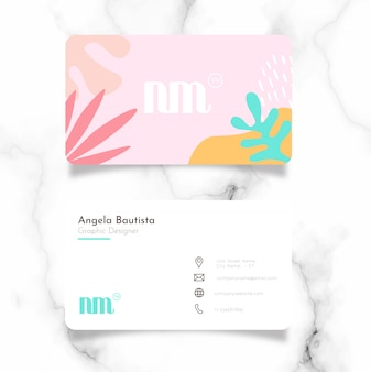 Шаблон визитной карточки femenine