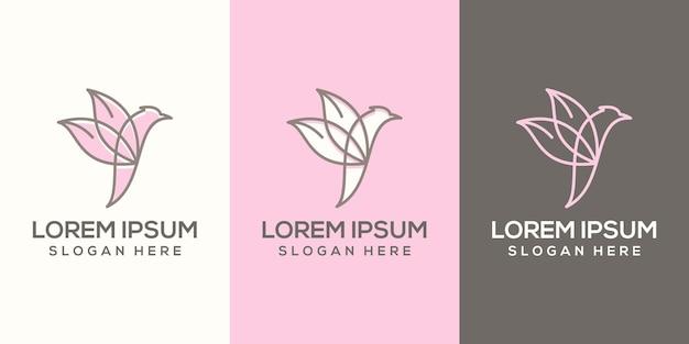 Feminim абстрактный логотип птицы готов к использованию