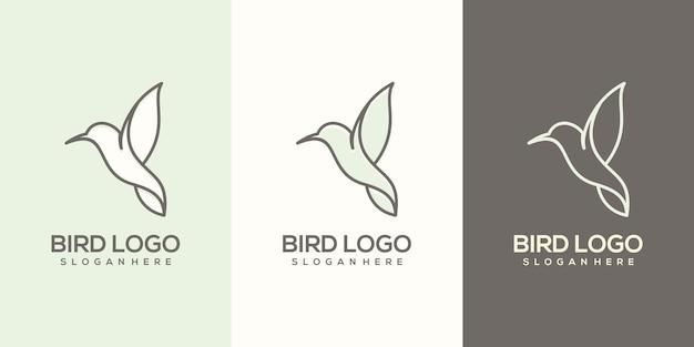 Feminim abstract bird logo template
