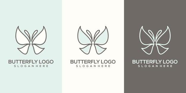 すぐに使えるフェミニム抽象的な蝶のロゴ