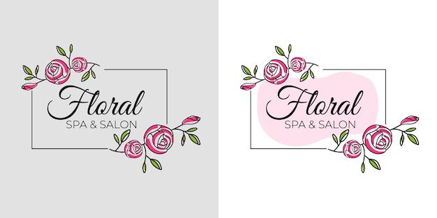Цветочный логотип женской красоты для салона красоты, спа, бутика и косметического бизнеса