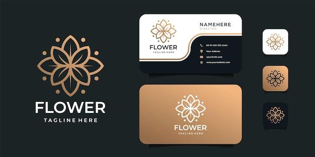 フェミニンな美しさの花のロゴデザイン