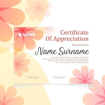 Feminine elegant  certificate