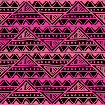 Feminine ethnic hand drawn seamless pattern