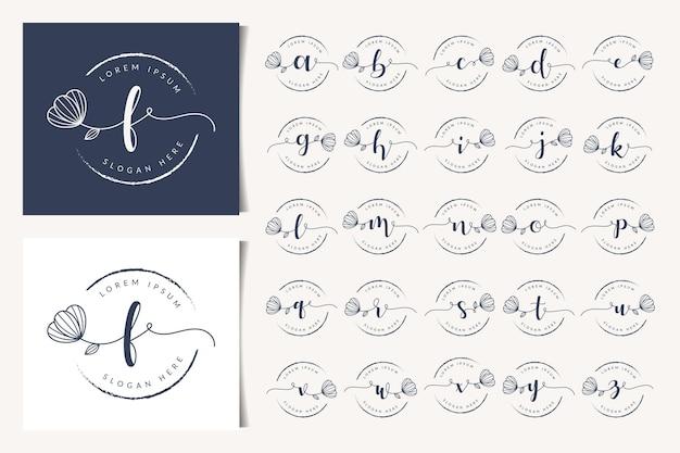 Шаблон дизайна логотипа женских цветочных букв