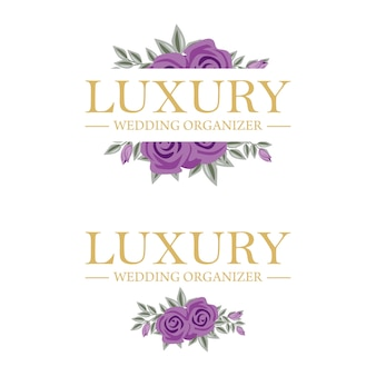 Feminine floral logo template для свадебного организатора