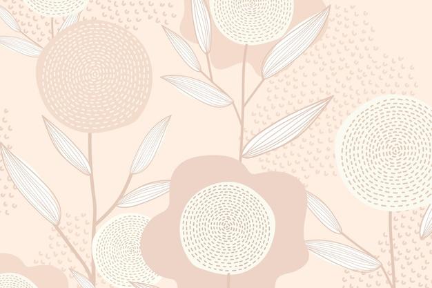 Feminine floral patterned vector background in pink
