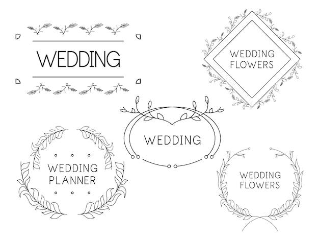 Фестивали цветочные шаблоны логотипов флорист свадебный планировщик