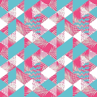 Feminine geometric triangle abstract seamless pattern