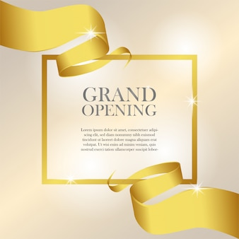 Feminine grand opening invitation template