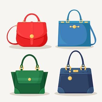 ショッピング、旅行、休暇のためのフェミニンなハンドバッグ。