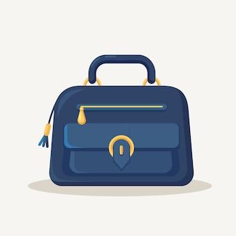 쇼핑, 여행, 휴가를위한 여성 핸드백.