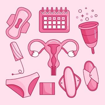 여성 위생 제품 컬렉션