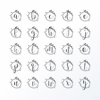 Feminine lettering logo set