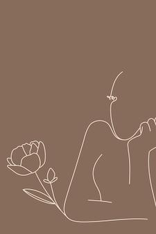 フェミニンなラインアート