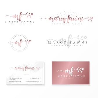Feminine logo collection template