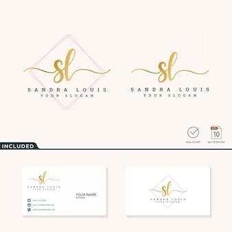 Feminine logo design  .