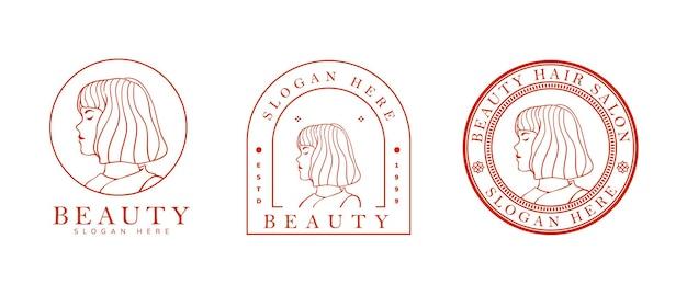 Feminine logo template for skin care, hair salon and other
